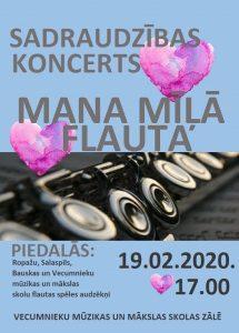 """Būs koncerts """"Mana mīļā flauta"""""""