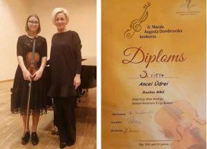 Vērtīgs panākums  VI Mazajā A.Dombrovska konkursā