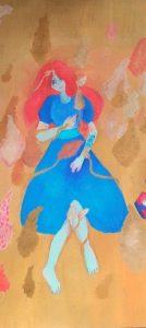 Friča Bārdas dzeju interpretē gleznās