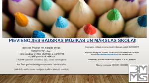 Uzņemšana Bauskas MMS Mākslas nodaļā